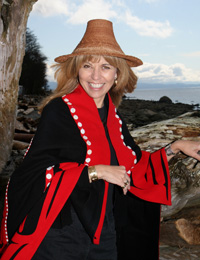 April White ~ Sgaana Jaad, Haida Artist