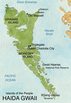 Overview Map of Haida Gwaii
